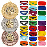Dog Medals And Ribbons Dog Canine Medal Packs Various Sizes And Colours Dog Awards