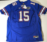 Nike Florida Gators Jersey Nwt Blue Stitched Size 56 Number 15 Authentic New