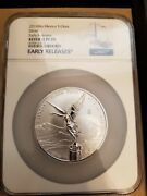 2019 Mexico 5 Oz Onza Silver Libertad Reverse Proof 1,000 Minted 1 Population