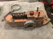 Vintage Great Swanee Tin Toy Steam Friction Boat