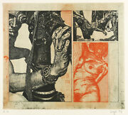 Peter Sorge - Camera Obscura - Farbradierung In Rot And Schwarz 1971