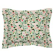 Sushi Japanese Food Japan Kawaii Fish Rice Sashimi Mint Pillow Sham By Roostery
