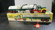 Rare Marx 1964 Hess Truck Oil Tanker W/boxinsertfunnel Tractor Trailer Old Toy