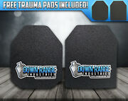 Ar500 Level 3 Iii Body Armor Plates - 10x12 Multi-curved Spall Coating Options