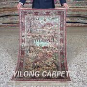 Yilong 2.5and039x4and039 Country Life Scenery Tapestry Silk Carpet Oriental Area Rug 471h