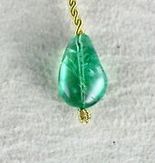Certified Natural Colombian Emerald Bead 6.98 Cts Drill Gemstone Hanging Pendant