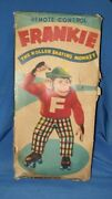 Old Vintage Battery Operated Skating Monkey Toy Only Box From Japan 1960