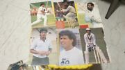 18 Old Vintage Indian Cricketers Color Picture Post Cards From India 1985