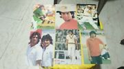 24 Old Vintage Indian Cricketers Color Picture Post Cards From India 1985