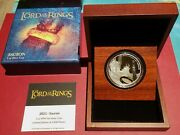 2021 Lord Of The Rings Sauron 1oz Silver Coin Proof Gilded Ring - Mintage 3000