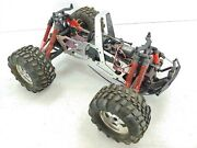 Hpi Savage 1/8 Scale Monster Truck Roller Slider Chassis Used 3 Tires