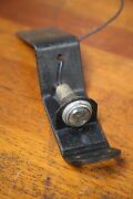 Vintage License Plate Bracket Light Hitch With Glass Jewel Reflector Accessory