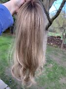 House Of European Hair Reese 14 Topper - Cuticle Intact - Rooted Medium Blonde