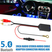 Car Bluetooth 5.0 Radio Stereo Audio Cable Adapter Kit 2rca Connector Music Aux