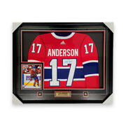 Josh Anderson Montreal Canadiens Signed And Framed 42x36 Red Adidasandreg Pro Jersey