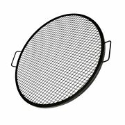 X-marks Fire Pit Grill Cooking Grate, Outdoor Campfire Bbq Grill, Round - 30 In