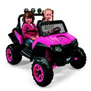 Kids Battery Powered Car 12-volt Girls Ride-on Electric Pink Ranger Jeep Toy