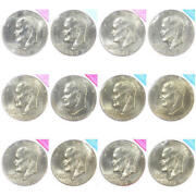 1973 - 1978 Bu Ike Eisenhower Dollar Cello Lot 12 P And D Coin From Us Mint Sets
