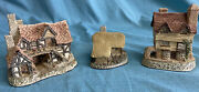 Lot Of 3 David Winter Cottages Wine Merchant Moorland Cottage And The Bothy Nice