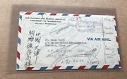 China 1950 Inbound Cover From Us +multi-markings +tientsin Machine Roller+scarce