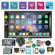 Car Radio Mp5 Player Bluetooth Double 2 Din 7 Fm Aux In Ios/android Mirror Link