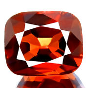 1.19ct Natural Spinel Unheated Best Orange Red Cushion Cut Bright Awesome Gem