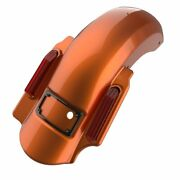 Amber Whiskey 2 Into 1 Dominator Stretched Rear Fender Fits 14+ Harley Touring