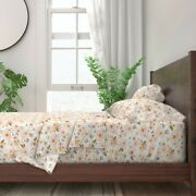 Floral Watercolor Girl Nursery Decor 100 Cotton Sateen Sheet Set By Roostery