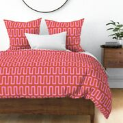 Geometric Greek Key Tribal African Stripes Ethnic Sateen Duvet Cover By Roostery