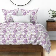 Rose Collage Roses Dark Light Textured Painted Sateen Duvet Cover By Roostery