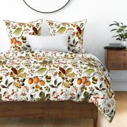 Fall Vintage Florals Thanksgiving Decor Autumn Sateen Duvet Cover By Roostery