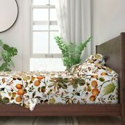 Fall Vintage Florals Thanksgiving Decor 100 Cotton Sateen Sheet Set By Roostery