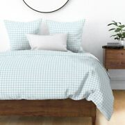 Grid Graph Paper Grids Blue Grid Simple Grid Sateen Duvet Cover By Roostery