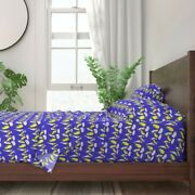 Parakeets Budgies 100 Cotton Sateen Sheet Set By Roostery