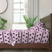 Pink Poodle Polka Baby Girl Nursery 100 Cotton Sateen Sheet Set By Roostery