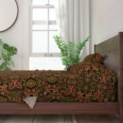 Paisley Harvest Autumn Fall Pop Art 100 Cotton Sateen Sheet Set By Roostery