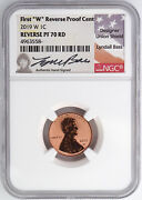 2019-w Reverse Proof Lincoln Cent Ngc Pf70rd Lyndall Bass Signed