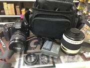 Canon Eos 30d Digital Camera W/strap Two Lenses Two Batteries Charger And Bag
