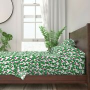 Green Cactus Cacti 100 Cotton Sateen Sheet Set By Roostery