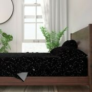 Black And White Constellation Astrology 100 Cotton Sateen Sheet Set By Roostery