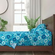 Winter Christmas Decor Snowflakes 100 Cotton Sateen Sheet Set By Roostery