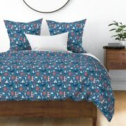 Ocean Sea Marine Octopus Whale Fish Boat Sateen Duvet Cover By Roostery