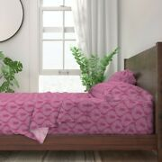 Drop Pink Magenta White 100 Cotton Sateen Sheet Set By Roostery