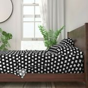 Cross Plus Geometric Abstract 100 Cotton Sateen Sheet Set By Roostery