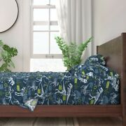 Dinosaur Blue Fossils Boys Dino 100 Cotton Sateen Sheet Set By Roostery
