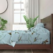 Hummingbird Animals Ornithology 100 Cotton Sateen Sheet Set By Roostery