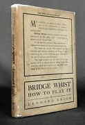 Lennard Leigh / Bridge Whist How To Play It With Full Directions Numerous 1902