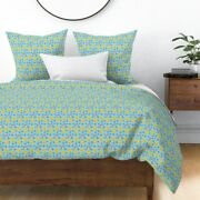 Crescent Moon Man In Moon Cow Stars Sky Nursery Sateen Duvet Cover By Roostery