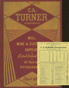 C A Turner / C.a Turner Inc Mill Mine And Electrical Supplies Catalog No 37 1st Ed