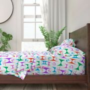 Mid Century Modern Abstract Retro Geo 100 Cotton Sateen Sheet Set By Roostery